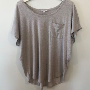 Joie Oatmeal Metallic Oversized Pocket Tee